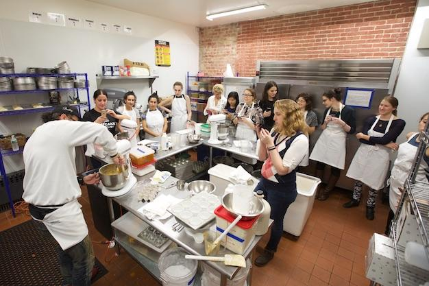 The James Beard Foundation Greens Presents Baking With Our Chef Co Founder Salvatore LoBuglio at our 30 Prince Street Location.