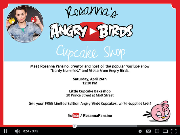 Nerdy Nummies star Rosanna Pansino and Angry Birds cupcakes!