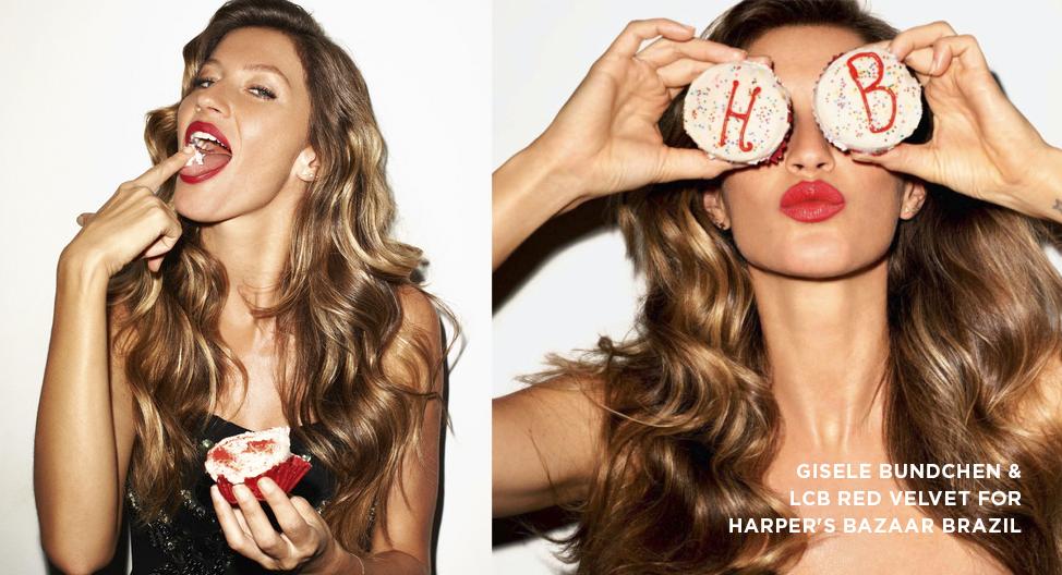 Gisele Bundchen & LCB Red Velvet for Harper's Bazaar Brazil